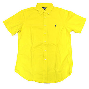 Mens short sleeve classic fit shirt - yellow