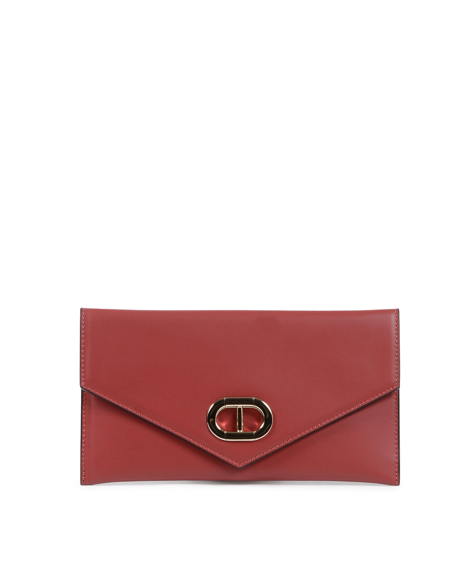 Dee Leather Envelope Clutch