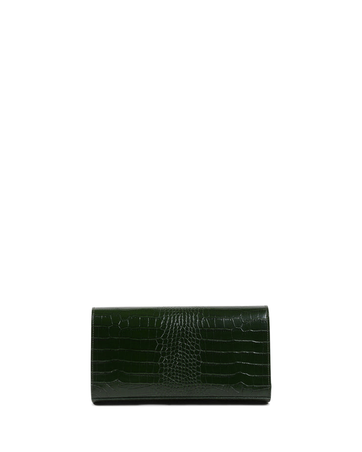 Everything Clutch Dark Green