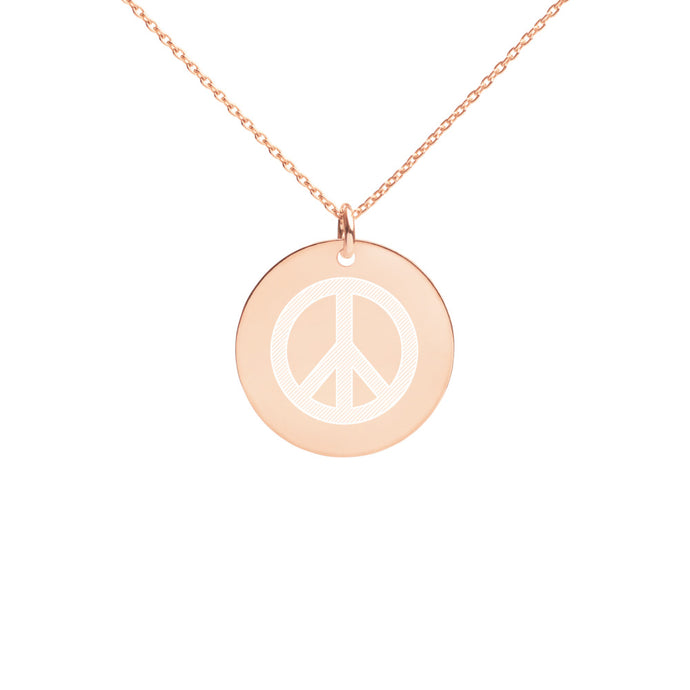 Peace Disc Necklace