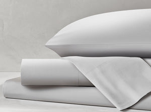 Percale Glacier Gray Sheet Set