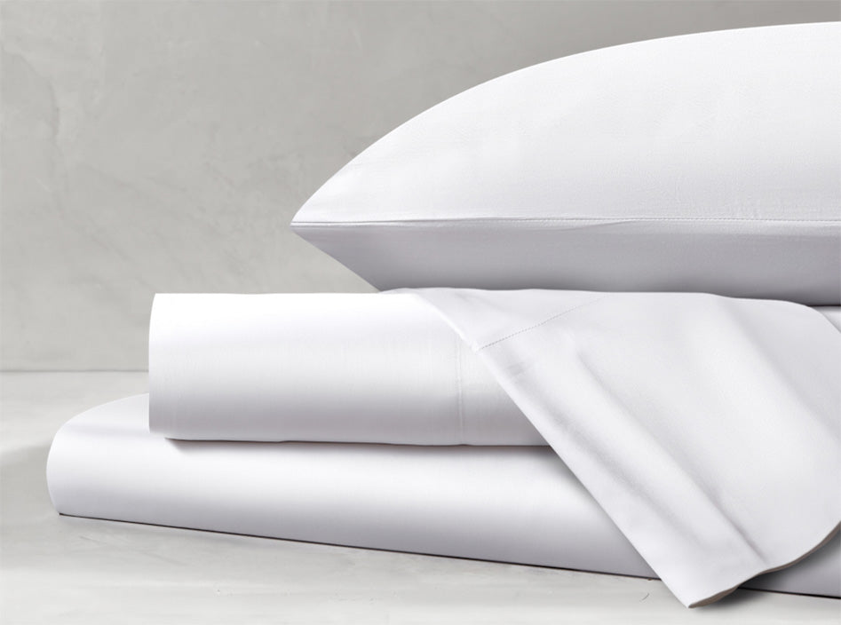 Sateen White Sheet Set
