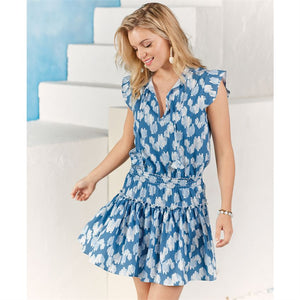 MUD PIE DANIELLE FLUTTER CLOUDS DRESS