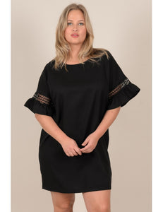 MOLLY BRACKEN SHIFT GUIPURE DRESS