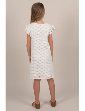 MOLLY BRACKEN GIRLS LACE MINI DRESS