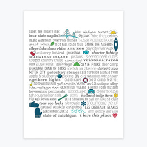 TANDEM FOR TWO MICHIGAN BUCKET LIST ART PRINT