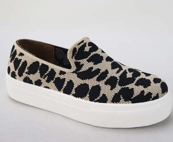 BAMBOO LEOPARD SLIP ON SNEAKERS