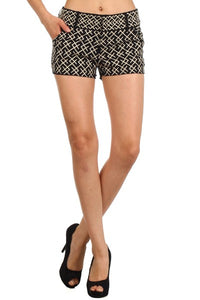 THML BLACK EMBROIDERED SHORTS