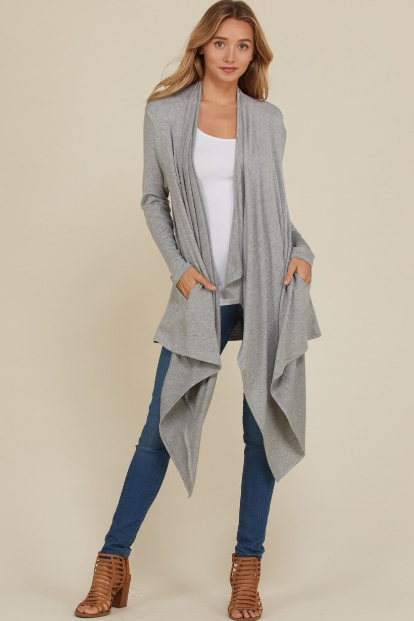 ANNABELLE FRENCH TERRY MIDI CARDIGAN