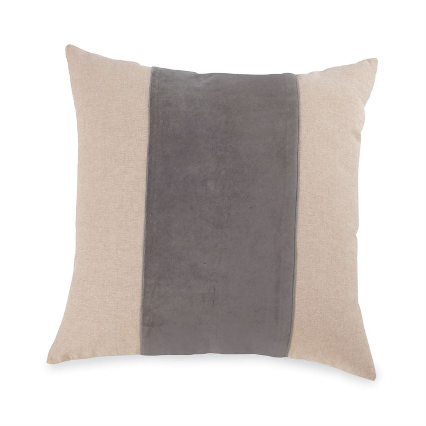 MUDPIE GREY VELVET PILLOW