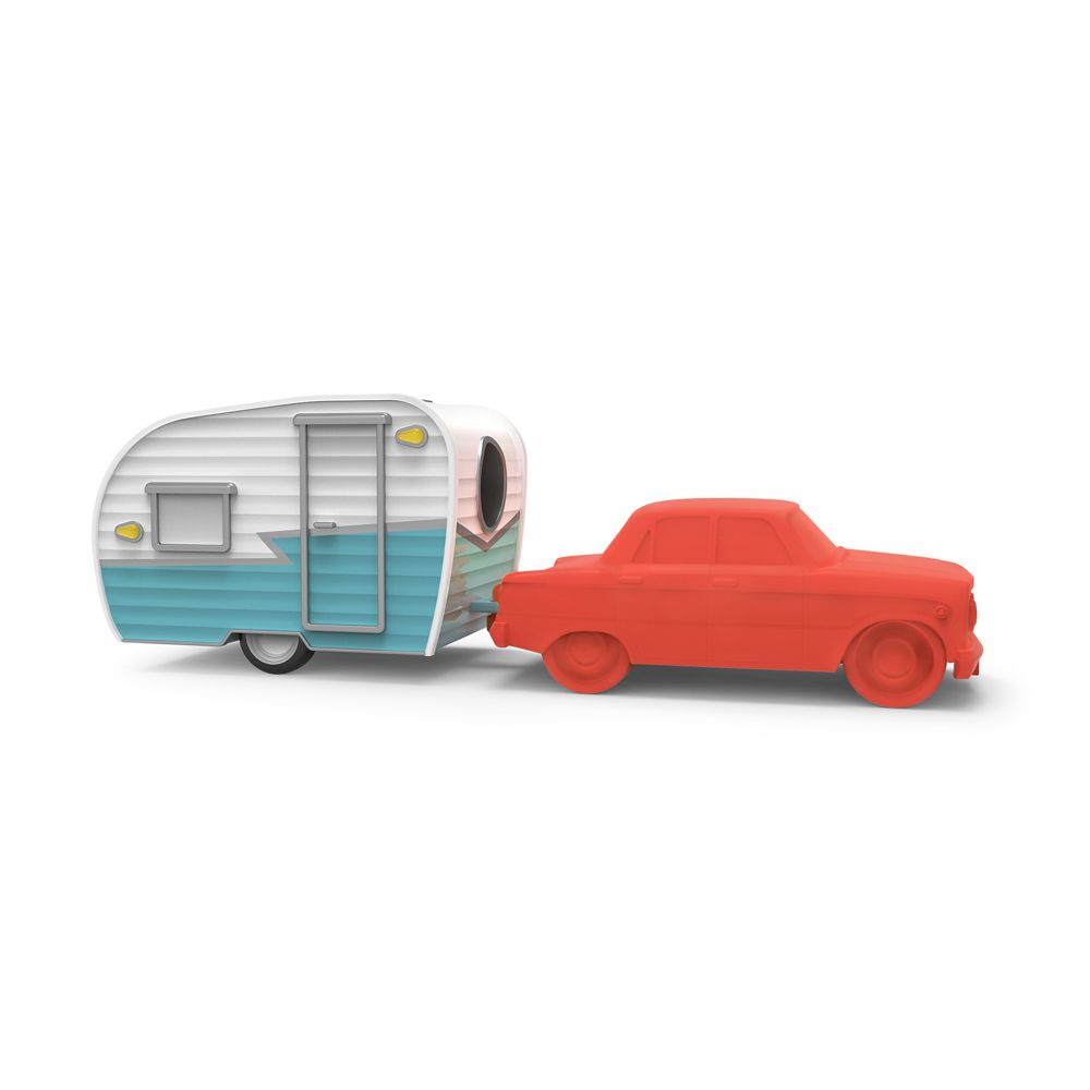 FRED HAPPY CAMPER ERASER AND SHARPENER