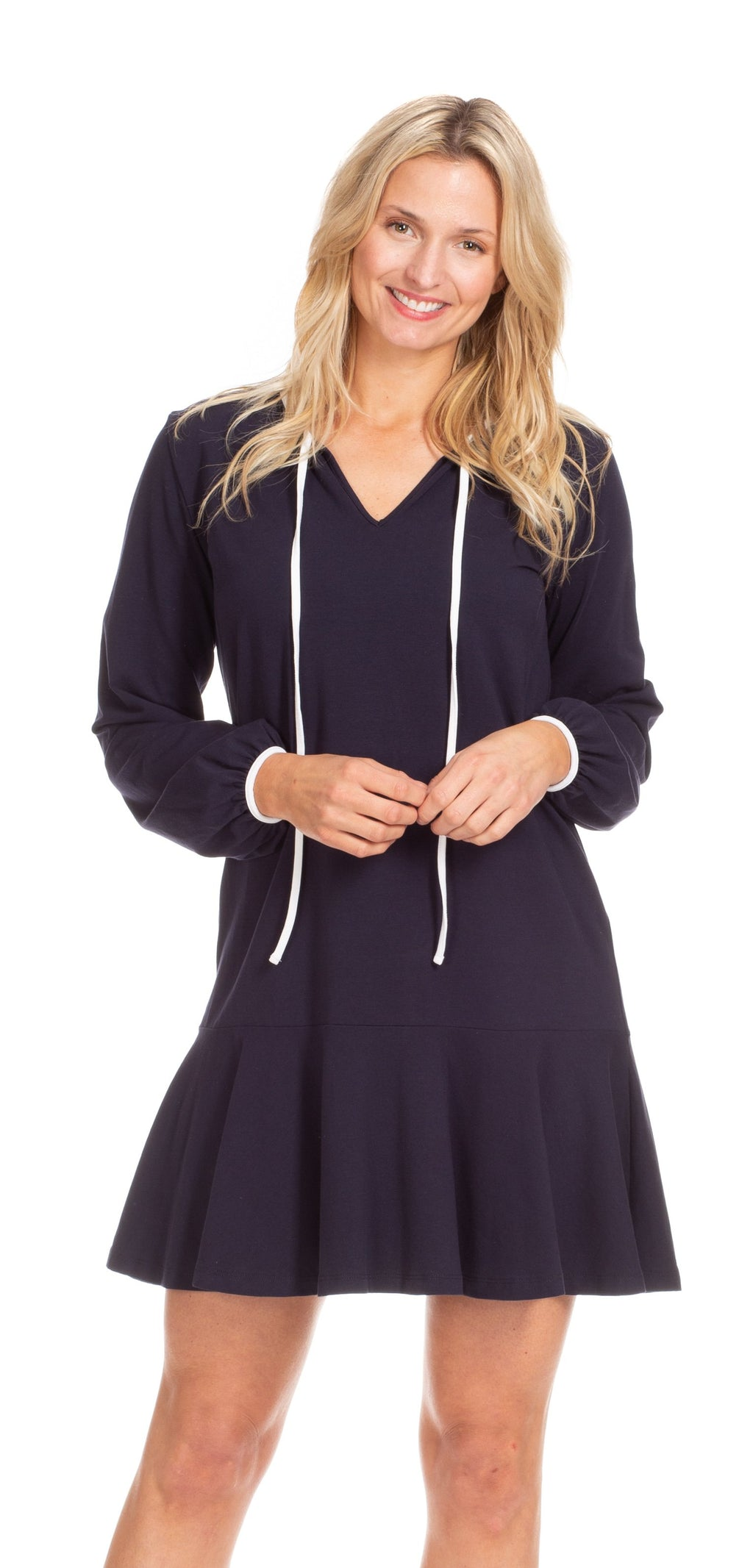 DUFFIELD LANE NAVY MIA DRESS