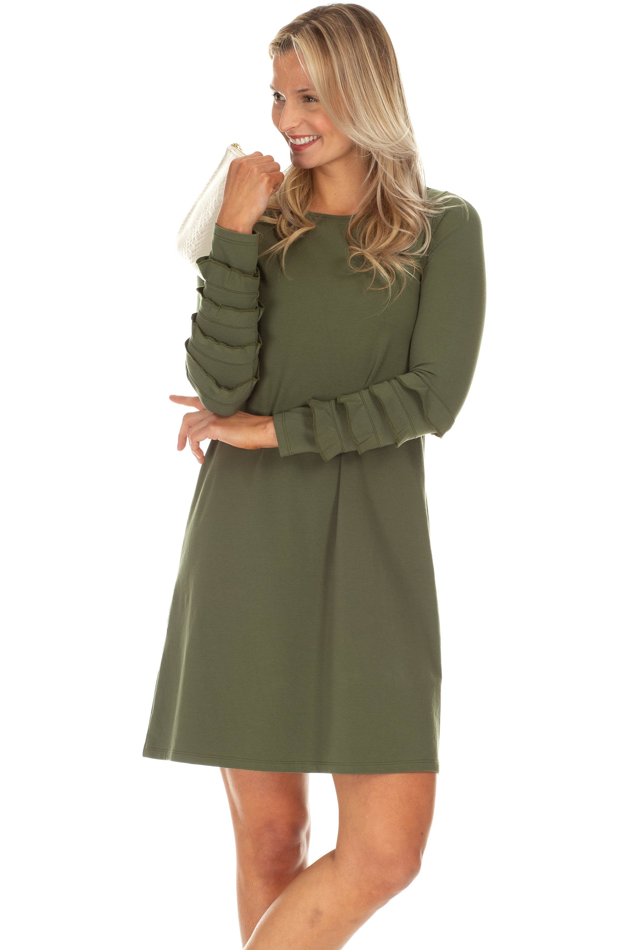 DUFFIELD LANE RADCLIFF OLIVE DRESS