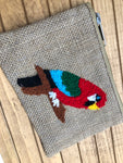 AMERICA & BEYOND BURLAP COIN PURSE
