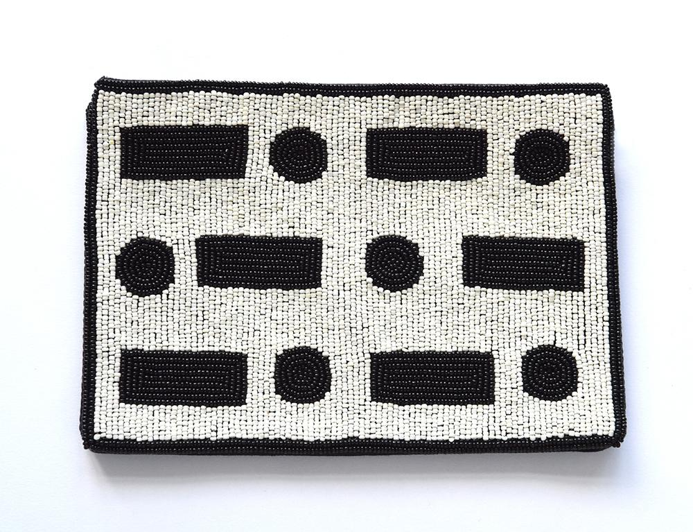 INK + ALLOY BEADED CLUTCH