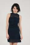 MOLLY BRACKEN NAVY GRAPHIC LACE DRESS