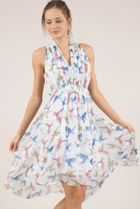 MOLLY BRACKEN PRINTED VEIL DRESS