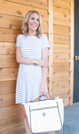 DUFFIELD LANE AMBER DRESS WHITE STRIPE