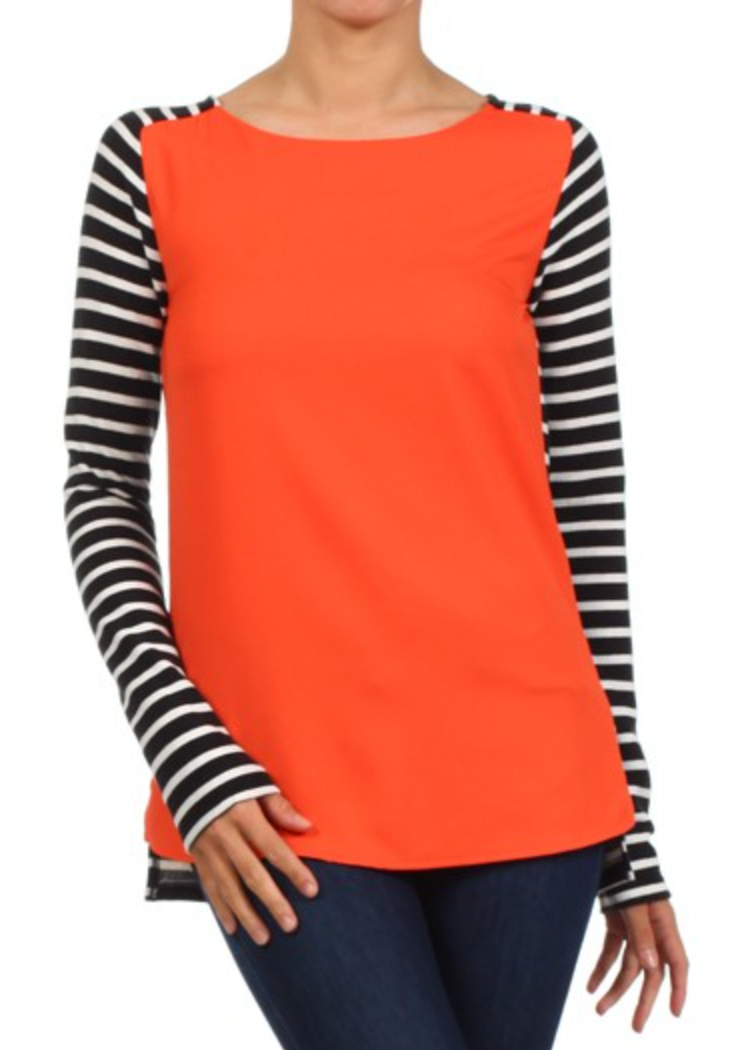 THML SCOOPNECK STRIPED TOP