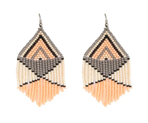 FOSTERIE PEACH BEADED EARRINGS