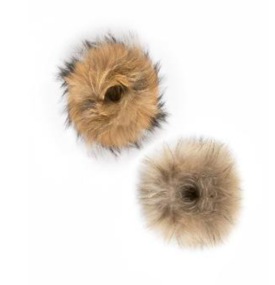 JAYLEY FOX FUR CUFFS