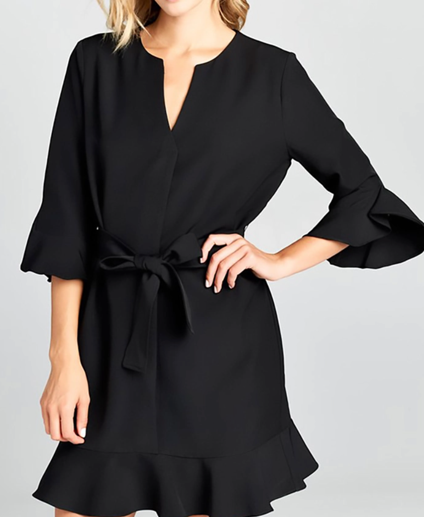 RENEE C. BELL SLEEVE DRESS