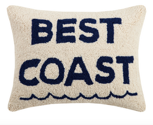 PEKING HANDICRAFT BEST COAST HOOK PILLOW