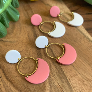 HAPPY JUNE CLAY LUNA EARRINGS