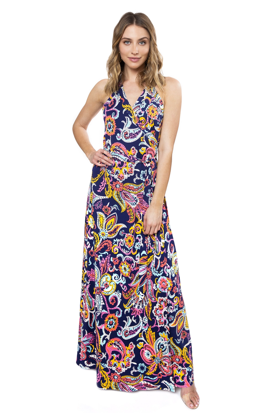 JULIE BROWN SHARON WRAP DRESS