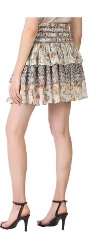 CURRENT AIR ABSTRACT FLORAL SKIRT