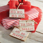 MUDPIE CARVED WOOD HOLIDAY GIFT TAGS