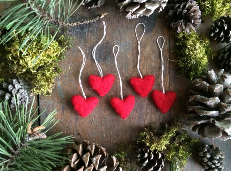HOUSE OF MOSS WOOL ORNAMENTS