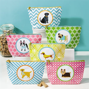 TWO'S COMPANY DOG ZIPPERED BAG