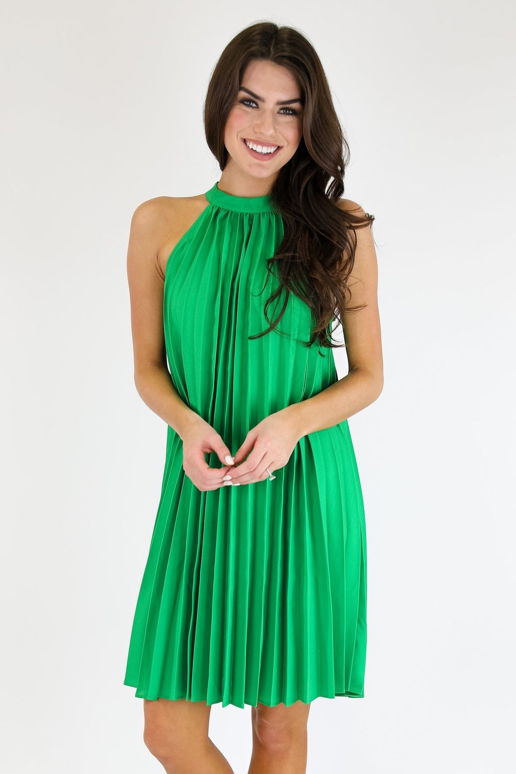JUDITH MARCH PLEATED PENNY DRESS
