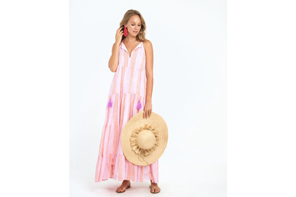 OLIPHANT TULUM TIERED TASSEL DRESS