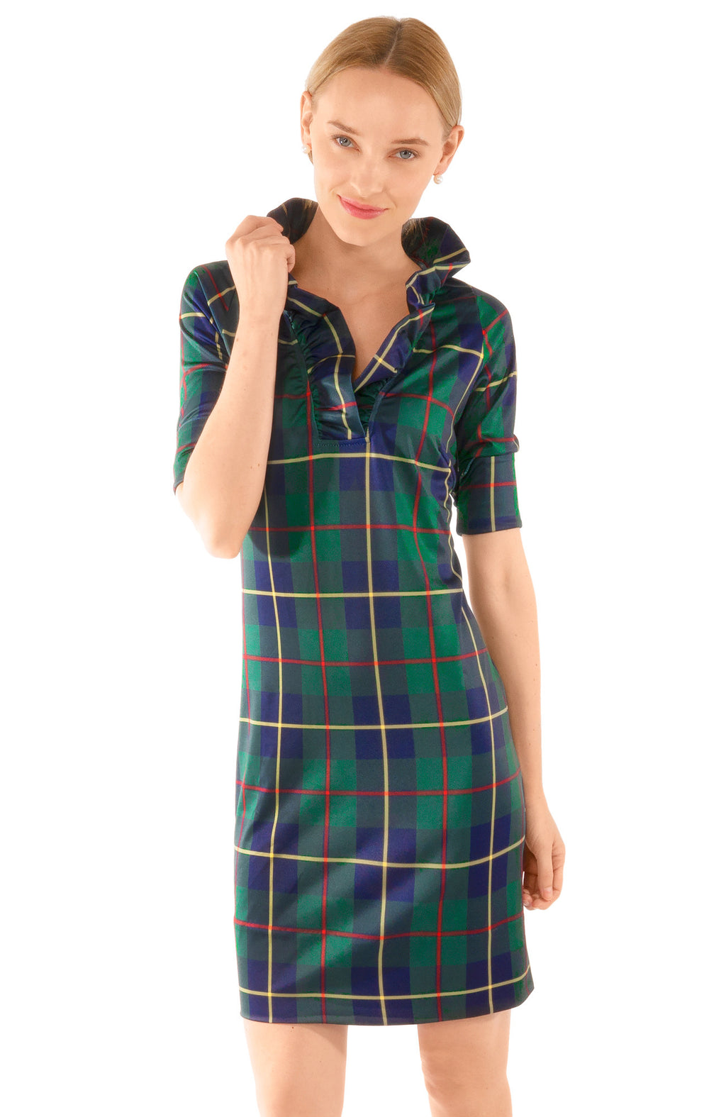 GRETCHEN SCOTT PLAIDLY COOPER DRESS