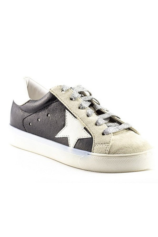 NATURE BREEZE BLACK METALLIC SNEAKERS