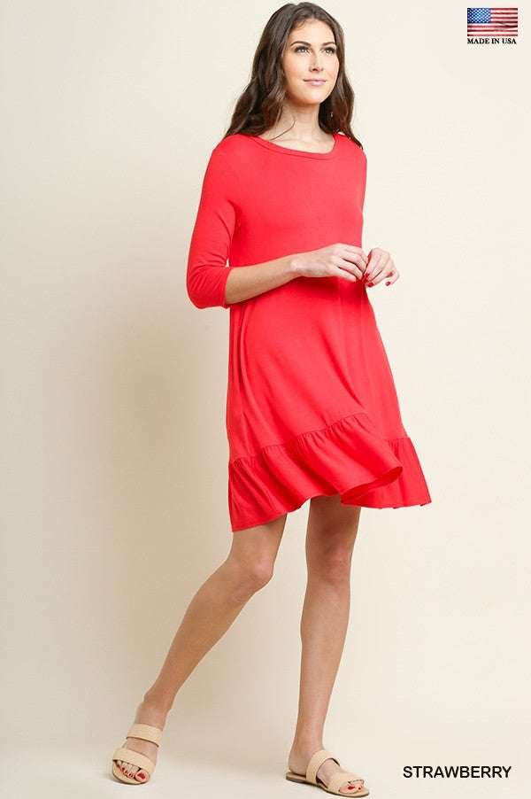 UMGEE ROUND NECK POCKET DRESS