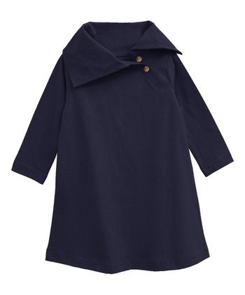 ATUN NAVY HAILEY SHIFT DRESS