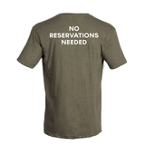 Tocabe Heather Green T-Shirt No Reservations
