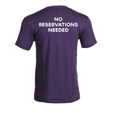 Heather Purple No Reservations T-Shirt