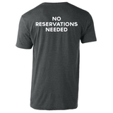 Heather Charcoal No Reservations T-Shirt