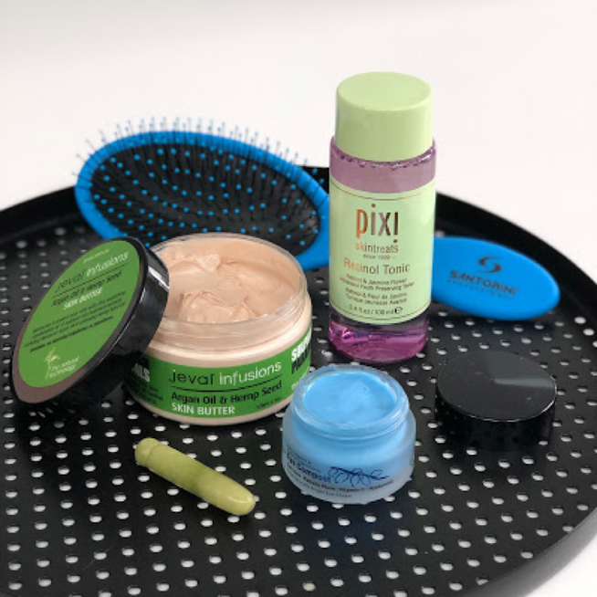 PRODUCT REVIEW: PIXI RETINOL TONIC, JEVAL INFUSIONS SKIN BUTTER, ECO BY Sonya Driver EYE COMPOST AND SANTORINI HAIR BRUSH FROM BEAUTOPIA HAIR AND BEAUTY