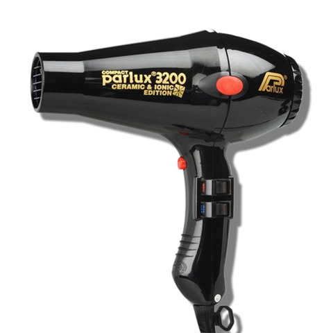 Parlux 3200 Ionic & Ceramic Compact Hair Dryer - Black-Parlux-Beautopia Hair & Beauty