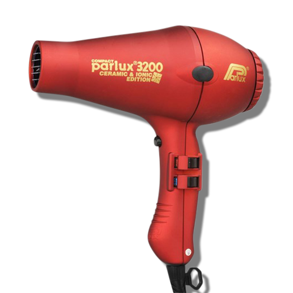 Parlux 3200 Ionic & Ceramic Compact Hair Dryer - Red-Parlux-Beautopia Hair & Beauty
