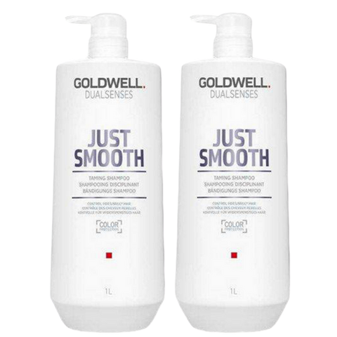 Goldwell Dual Senses Just Smooth Taming Shampoo & Conditioner 1 Litre Duo - Beautopia Hair & Beauty