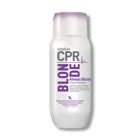 VitaFive CPR Always Blonde Voilet + Blue Conditioner 300ml-VitaFive-Beautopia Hair & Beauty