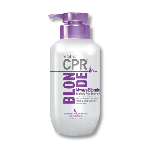 CPR Vitafive Always Blonde Sulphate Free Shampoo 900ml - Beautopia Hair & Beauty