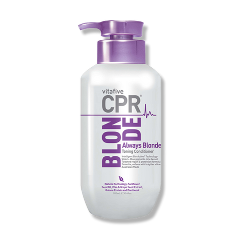 CPR Vitafive Always Blonde Violet + Blue Conditioner 900ml - Beautopia Hair & Beauty