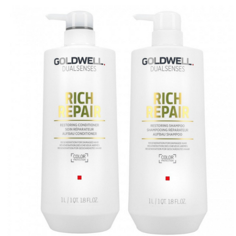Goldwell Dual Senses Rich Repair Shampoo & Conditioner 1 Litre Duo - Beautopia Hair & Beauty